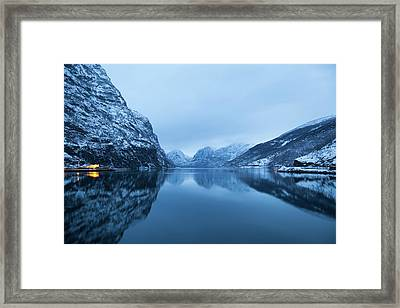 The Stillness Of The Sea Framed Print