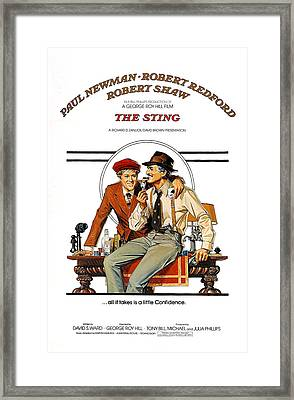 The Sting, The, Robert Redford, Paul Framed Print by Everett