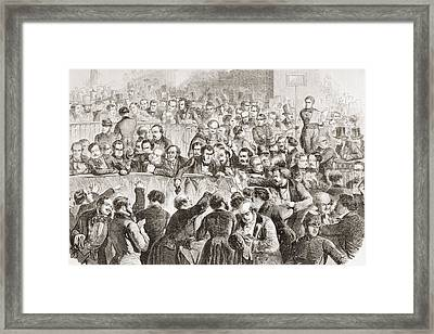 The Stock Exchange In Paris, France, In Framed Print by Vintage Design Pics