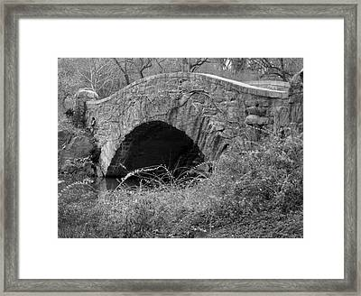The Stone Bridge Framed Print by Dennis Curry