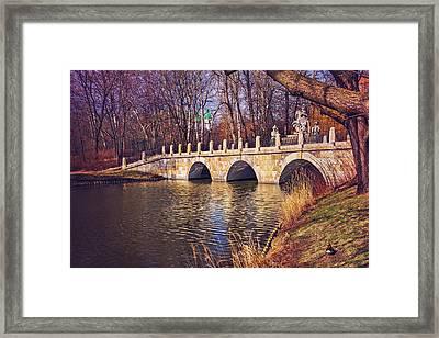 The Stone Bridge In Lazienki Park Warsaw  Framed Print by Carol Japp