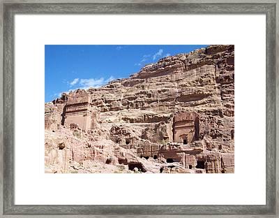 The Stone City Framed Print by Munir Alawi
