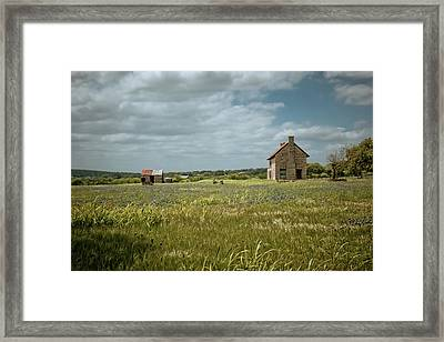 Framed Print featuring the photograph The Stone House by Linda Unger