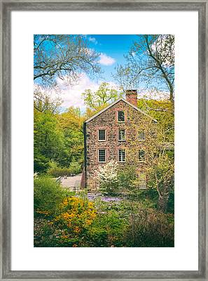 The Stone Mill In Spring Framed Print