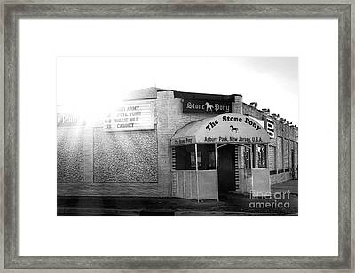 The Stone Pony  Framed Print by Olivier Le Queinec