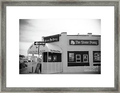 Framed Print featuring the photograph The Stone Pony - One Way by Colleen Kammerer