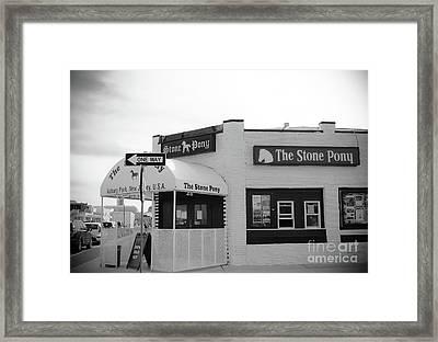 The Stone Pony - One Way Framed Print