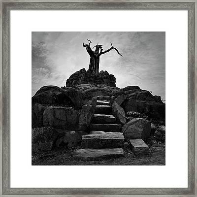 The Stone Steps II Bw Framed Print