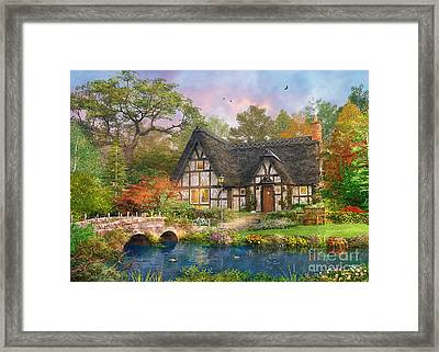 The Stoney Bridge Cottage Framed Print by Dominic Davison