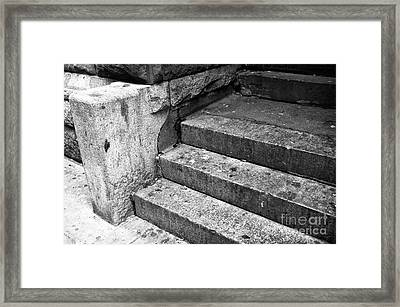 The Stoop Mono Framed Print by John Rizzuto