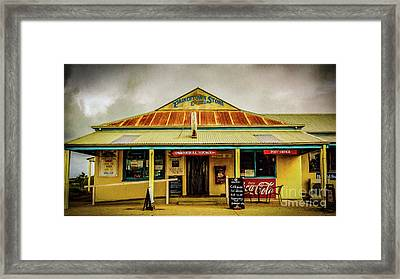 Framed Print featuring the photograph The Store by Perry Webster