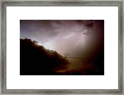 The Storm 2.5 Framed Print by Joseph A Langley