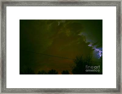 The Storm 2.8 Framed Print by Joseph A Langley
