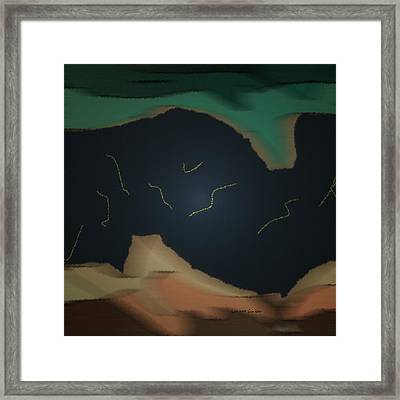 The Storm Above 2 Framed Print by Lenore Senior