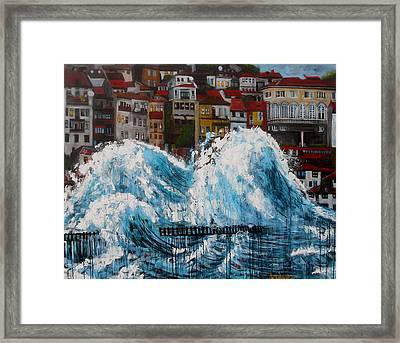 The Storm- Large Work Framed Print