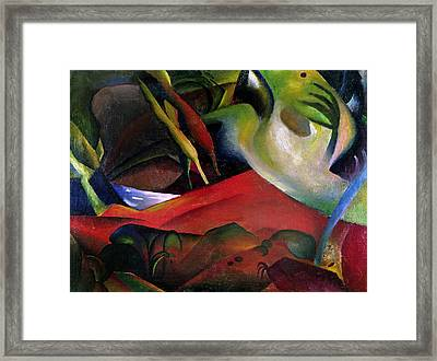 The Storm Framed Print by August Macke