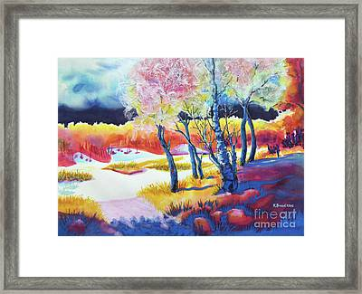 The Storm Comes 2 Framed Print by Kathy Braud