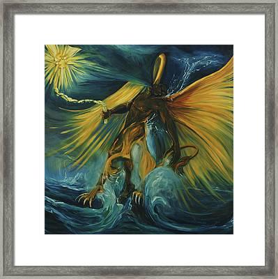 The Storm Eater Framed Print