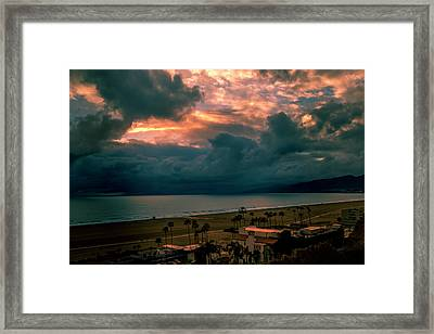 The Storm Moves On Framed Print