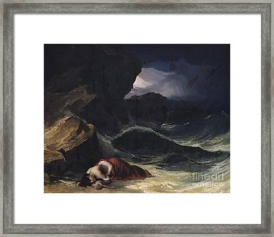 The Storm Or The Shipwreck Framed Print by Theodore Gericault
