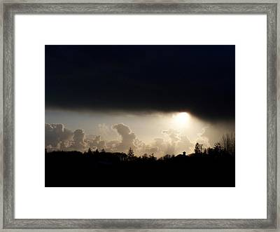 The Storm V Framed Print by Laurie Kidd