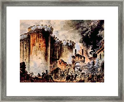 The Storming Of The Bastille, Paris Framed Print by Everett