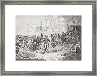 The Storming Of The Bastille, Paris Framed Print by Vintage Design Pics