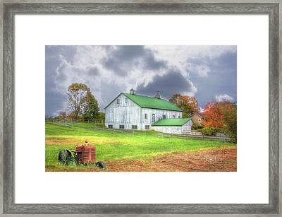 Framed Print featuring the digital art The Storms Coming by Sharon Batdorf