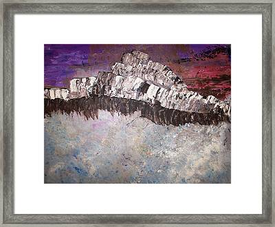 The Stormy Sea Shore Framed Print by Roy Penny