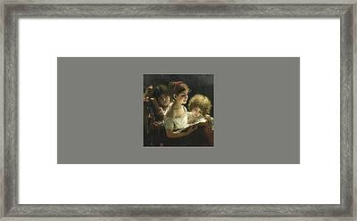 The Story Book Framed Print by Alexei Alexeevich