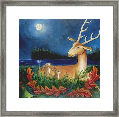 Framed Print featuring the painting The Story Keeper by Terry Webb Harshman