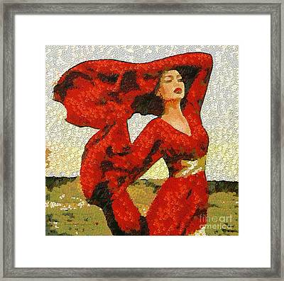 The Story Of A Beautiful Red In The Mix Framed Print