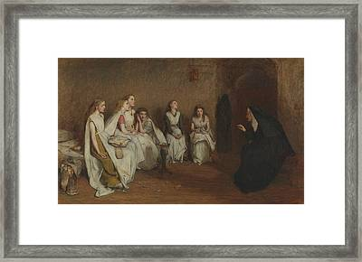 The Story Of A Life Framed Print by William Quiller Orchardson