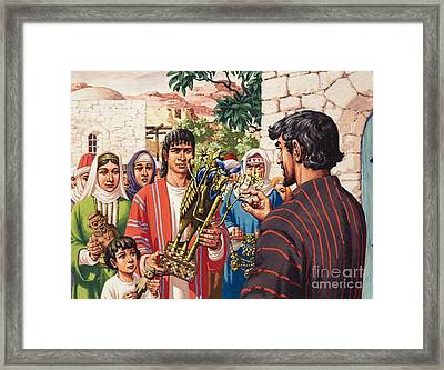 The Story Of Jacob Framed Print