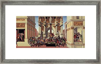 The Story Of Lucretia Framed Print by Sandro Botticelli