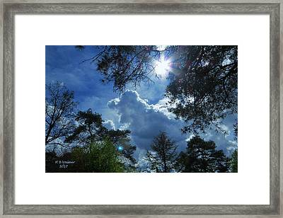 The Story Of The Sky Framed Print by B Vesseur
