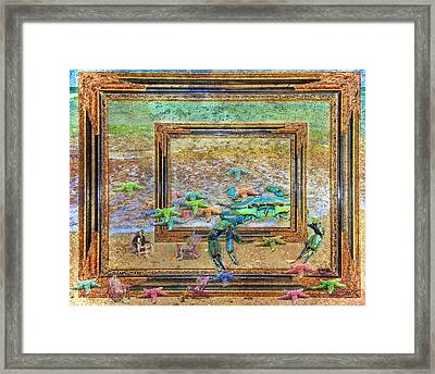 The Story Of The Sea Framed Print by Betsy Knapp