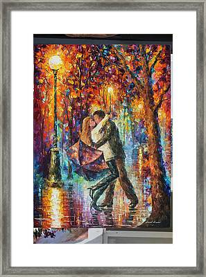 The Story Of The Umbrella Framed Print by Leonid Afremov