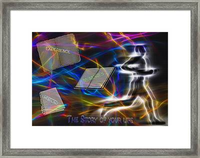 The Story Of Your Life - Conceptual Art Framed Print by Steve Ohlsen