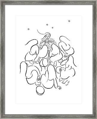 The Story Teller Framed Print by Chana Helen Rosenberg