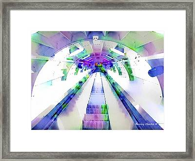 The Straight And Narrow Framed Print