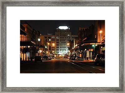 The Strand At Night Framed Print