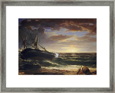The Stranded Ship Framed Print
