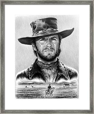 The Stranger Bw 1 Version Framed Print