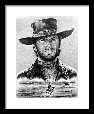 Cowboy Drawings Framed Prints
