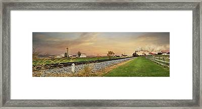 The Strasburg Rail Road Framed Print by Lori Deiter
