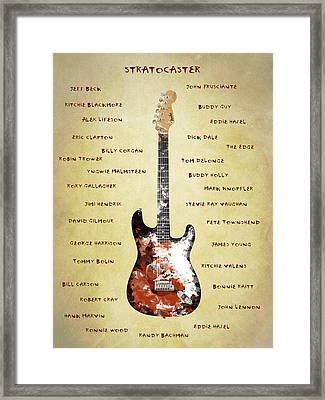 The Stratocaster Guitarists Framed Print