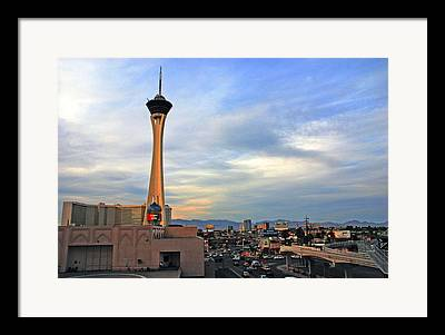 Traffic In Las Vegas Framed Prints