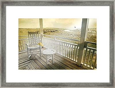 The Straw Beach Hat Framed Print