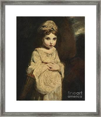 The Strawberry Girl Framed Print by Studio of Sir Joshua Reynolds
